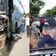 Bus Terjang Motor dan Pejalan Kaki, Dua Kritis