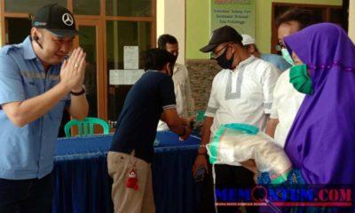 BJB Serahkan 666 Paket Sembako, 1600 Masker di Kedungasem dan Sumbertaman