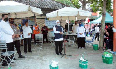 Gubernur Jatim Saat memberikan sambutan di Kampung Tangguh Semeru (pix)