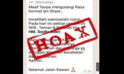 Capture pesan hoax yang disebar orang tak bertanggung jawab.