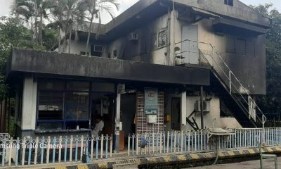 Bangunan Dua Lantai PT Kertas Leces Terbakar, Diduga Akibat Konsleting Listrik