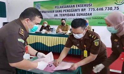 Mantan Wawali Probolinggo Serahkan Uang Pengganti Korupsi GIC Rp 775 Juta