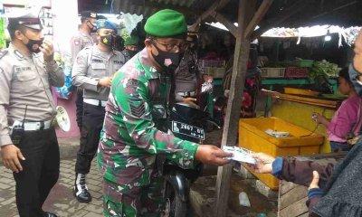 Cegah Klaster Baru, Kodim Probolinggo Perketat Disiplin Prokes di Pasar dan Fasum
